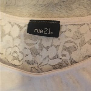 Rue21 Tops - Full lace back rue 21 half shirt